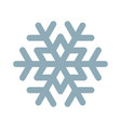 snowflake line icon frozen snow frost and fridge vector image