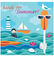 Summer Sea Diver Hand with Kayak Paddle vector image vector image