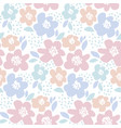 tender color floral in retro 60s style abstract vector image vector image