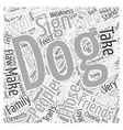 Traits of the Dog Word Cloud Concept vector image vector image