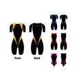 triathlon clothes vector image