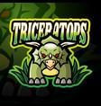 triceratops esport logo mascot design vector image vector image
