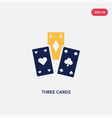 two color three cards icon from ultimate vector image vector image