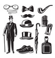 victorian style monochrome for vector image