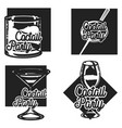 vintage cocktail party emblems vector image vector image