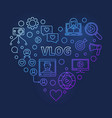 vlog concept modern colored linear heart vector image vector image