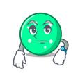 waiting circle mascot cartoon style vector image