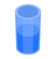 water glass icon isometric style vector image vector image