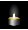 Burning candle candle flame vector image