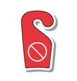 do not disturb notice icon vector image