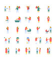 a pack of people flat icons vector image vector image