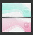 abstract background set banners color vector image