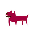 an angry cartoon dog pit bull icon vector image vector image