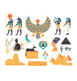 ancient egypt collection - gods deities and vector image vector image