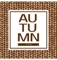 Autumn time poster on a seamless background vector image vector image