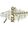bermuda jazz festival text background word cloud vector image vector image