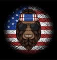 bigfoot america bandana vector image vector image