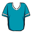 blue t shirt on white background vector image vector image