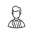 businessman - line design single isolated icon vector image