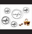 cafe round logo collection vector image