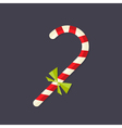 candy christmas stick with bow flat icon vector image vector image