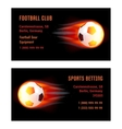 Card Football Ball with fire vector image vector image