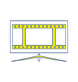 cinema tv screen icon vector image vector image
