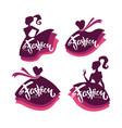 collection of fashion boutique and store logo vector image vector image