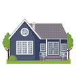 colorful cottage house icon in flat style vector image vector image