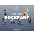 Concerts and events rockband banner vector image vector image