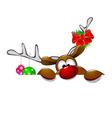Cute Christmas reindeer Rudolph 4 vector image