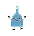 cute kawaii dustpan in a flat style vector image