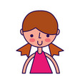 cute upper body girl cartoon vector image vector image