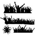 dancing crowds vector image vector image