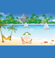 day at the beach vector image vector image