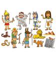 egypt child cartoon character vector image