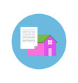 Flat Design Realty Icon Home with Document vector image vector image