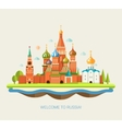 flat design travel composition vector image
