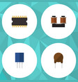 flat icon device set of coil copper vector image vector image