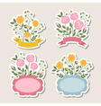 Floral romantic borders set vector image vector image