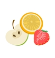 Fruit flavor icon cartoon style vector image vector image