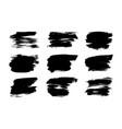 hand drawn ink brush set vector image