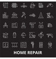home repair editable line icons set on vector image vector image