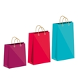 icon bag shop paper design vector image vector image