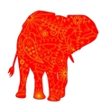 Indian elephant silhouette vector image