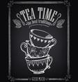 invitation to tea party retro tea party with vector image vector image