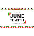 juneteenth freedom day banner african-american vector image vector image