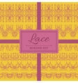 Lace abstract border set vector image vector image