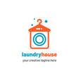 laundry house logo vector image vector image