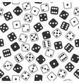 leisure dices gamble gaming monochrome vector image vector image